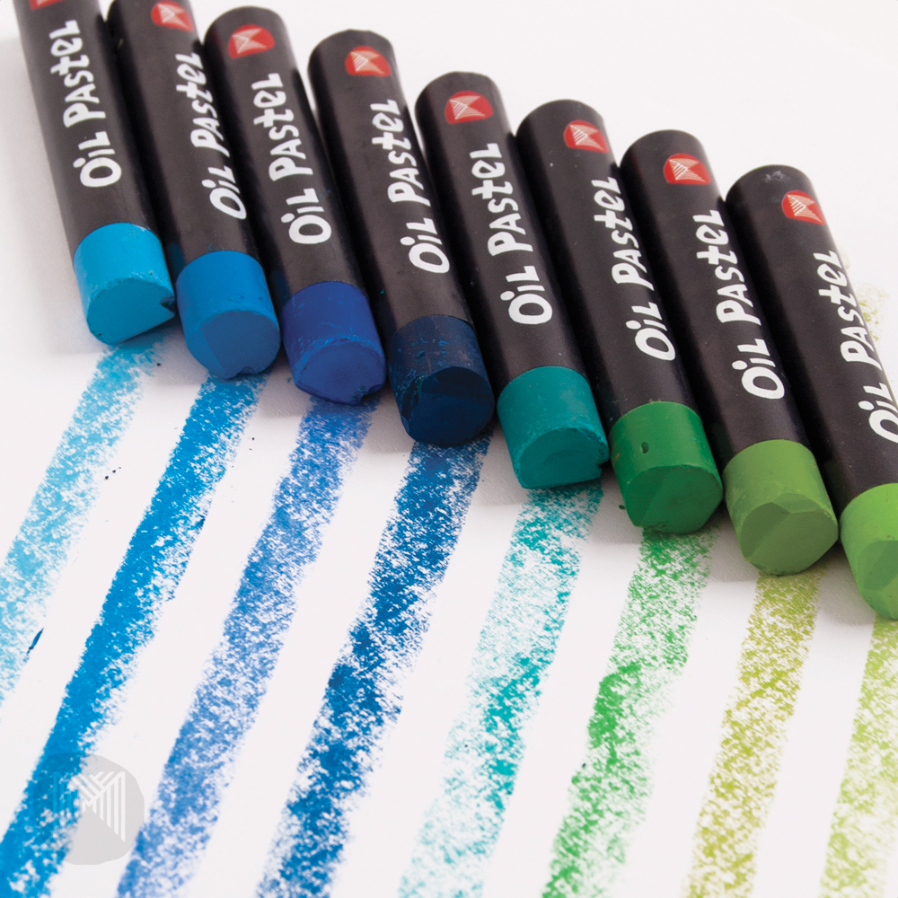 Oil pastels - step by step drawing
