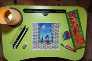 oil pastels drawing