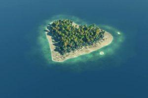 Heart Shape Island In Fiji