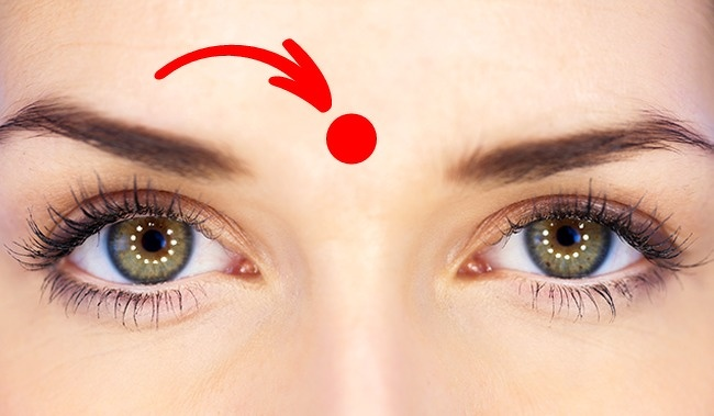 Massage This Point On Forehead